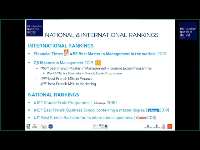 """Replay – International Students Webinar: """"Discover Montpellier Business School"""""""