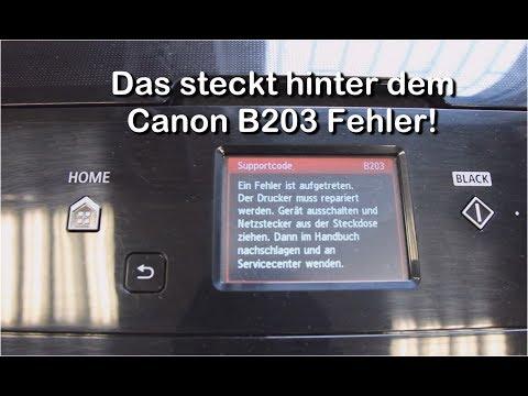 Das steckt hinter der Canon Fehlermeldung B203
