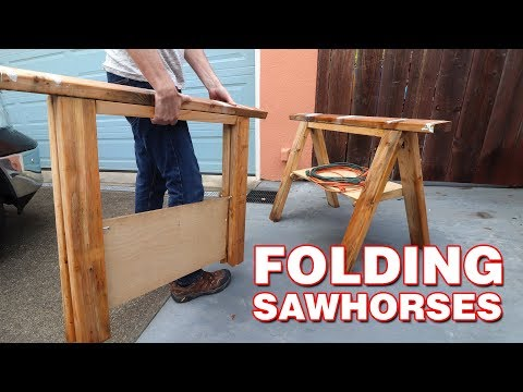 Folding Sawhorses | STEP BY STEP with limited tools