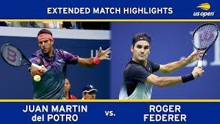 Juan Martin del Potro vs Roger Federer Extended Highlights | US Open 2017 Quarterfinal