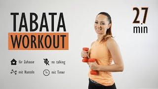 TABATA WORKOUT mit Hanteln ohne Springen / no talking | Katja Seifried