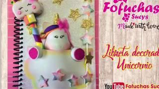 Manualidad Crea Tu Cuaderno De Unicornio Only Montoya
