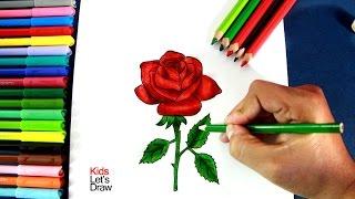 Como Dibujar Una Rosa Paso A Paso | How To Draw A Rose - 1/10