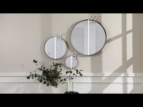 Video for Banded Round Copper Mirrors - Set of 3
