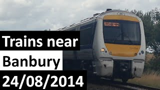 preview picture of video 'Trains near Banbury Including Virgin Trains Diversions 24/08/2014'