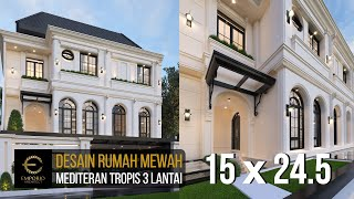 Video Desain Rumah Mediteran 3 Lantai Bapak Gilang Dirga dan Ibu Adiezty Fersa di Bekasi di  Bekasi, Jawa Barat