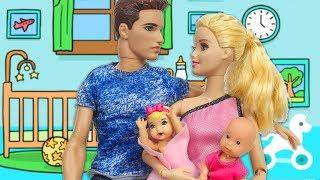 Barbie Ve Ailesi Bölüm 124 - Ve Bebekler Doğdu - Çizgi Film Tadında Barbie Oyunları