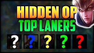 5 Most Underrated Hidden OP TOP LANE Champions! Top 5 Best Hidden OP Top Laners in League of Legends