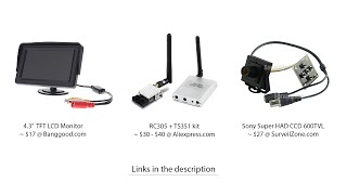 Cheap (full-size) FPV system for quadcopter - below 80$ - Sky Path