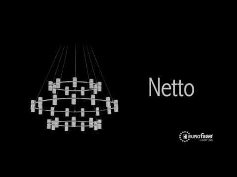 Video for Netto Chrome Four-Light LED Vanity Bar