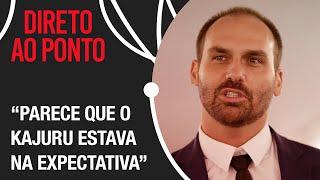 """""""Falta caráter"""", afirma Eduardo Bolsonaro sobre gravação de Kajuru"""