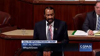 Rep. Al Green: Articles of Impeachment (C-SPAN)