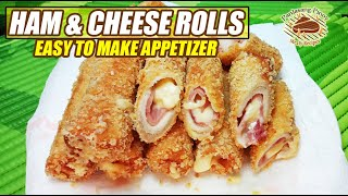 HAM AND CHEESE ROLLS 🧀 EASY TO MAKE TASTY AND CRUNCHY APPETIZERS