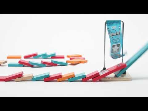 Youtube Video for Mighty Hammer Domino - 59 Piece Wooden Set