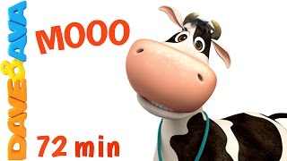 🐮 Learn Farm Animals and Animals Sounds   Nursery Rhymes and Kids Songs from Dave and Ava 🐮