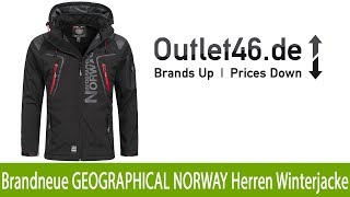be22c20456b4 Brandneue GEOGRAPHICAL NORWAY Outdoor Herren Winterjacke kaufen Schwarz    Outlet46.de