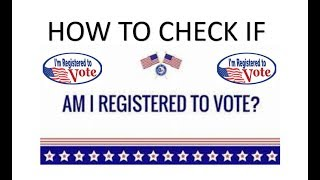 How To Check And See If You Are Registered To Vote In Texas