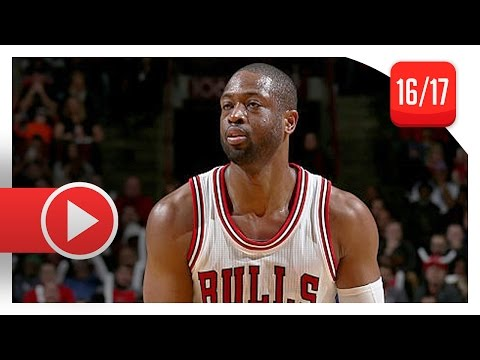 Dwyane Wade Full Highlights vs Kings (2017.01.21) - 30 Pts, 6 Reb, 4 Blk, CLUTCH Defense!