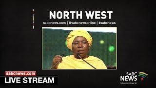 Dlamini-Zuma briefs media on North West province