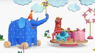 Деревяшки -Улитка+ Ветерок - развивающие мультфильмы для самых маленьких  0-4