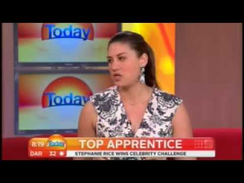 TODAY  Top Apprentice on MSN Video - Interview with Stephanie Rice