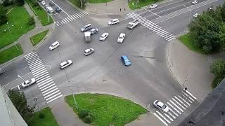 6 сентября 2016: Два ДТП с интервалом в 5 минут, перекресток Первостроителей - Вокзальная,