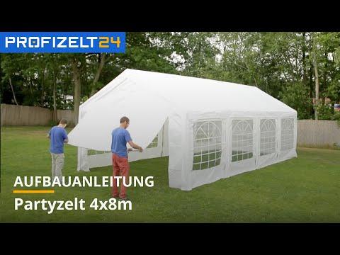 Partyzelt, Festzelt, PE-Zelt - Aufbau  4x8m OPTILine Professional