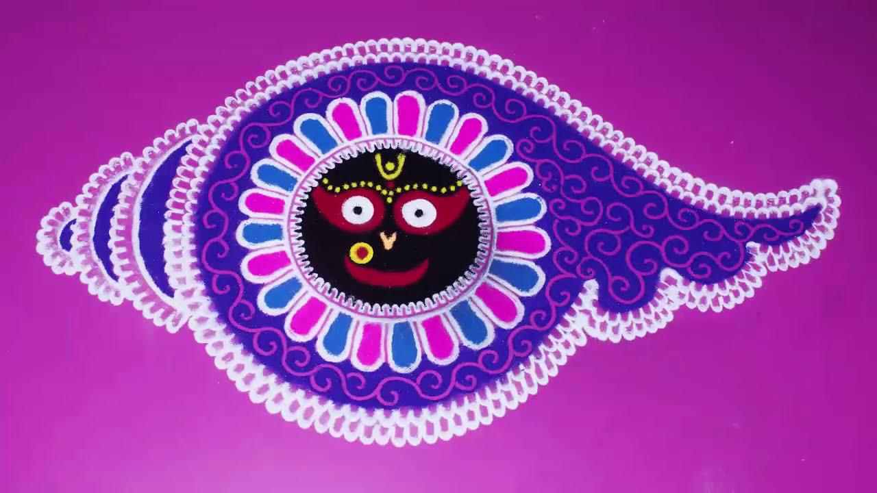 rangoli design jagannath hindu festival by art with creativity