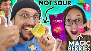 MAGIC Berries Turn SOUR Foods SWEET! (FV Family MBERRY Taste Test Challenge)