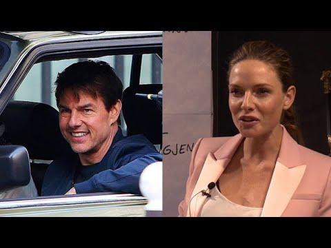Rebecca Ferguson on Tom Cruise watching her strut around in sleek biker leathers