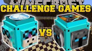 Minecraft: DANTDM VS POPULARMMOS CHALLENGE GAMES - Lucky Block Mod - Modded Mini-Game