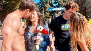 Savage Kissing Prank on Valentine's Day (I FELT SO BAD) | Connor Murphy and Kinsey