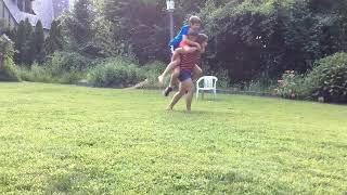 Double Piggy Back In Park - #LiftAGuyChallenge