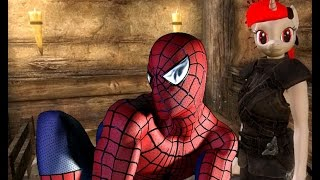 [Skyrim] Обзор модов - 17 Человек-паук и Блекджек