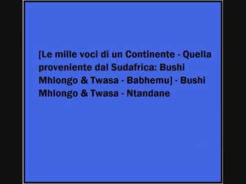 Bushi Mhlongo & Twasa - Ntandane