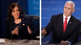 video: Covid-19 dominates US vice-presidential debate as Mike Pence and Kamala Harris square up
