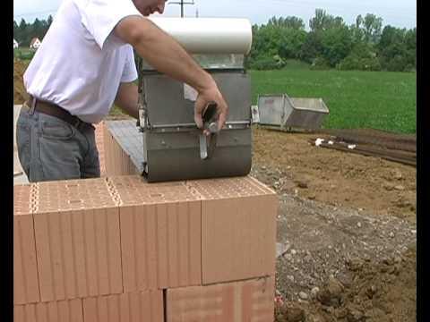 машинка для укладки раствора на керамические блоки