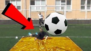 SLIP AND SLIDE CHALLENGE (HUGE SOCCER BALL)