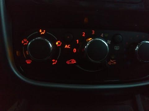 Мой Дастер. пробег 308 тыс км. замена лампочки подсветки блока управления отопителем