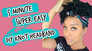 DIY: SUPER EASY KNOT HEADBAND TUTORIAL (NO PATTERN)