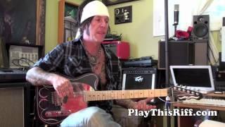 "TRACII GUNS guitar lesson ""L.A. GUNS Early Years"" PlayThisRiff.com"