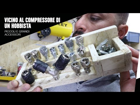 Vicino il compressore di un hobbista - Accessori aria compressa