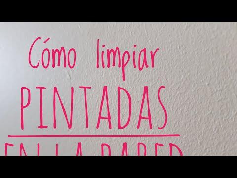 Limpiar manchas de lápiz, boli o rotulador en la pared (directo) | Dunia Santiago
