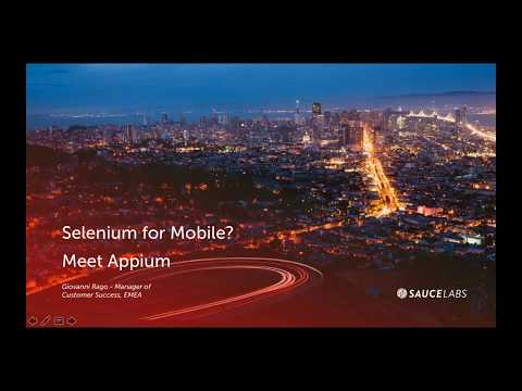 Using Selenium to Test Mobile? Meet Appium! Related YouTube Video