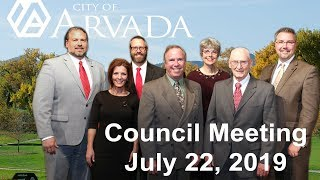 Preview image of Arvada City Council Meeting - July 22 2019