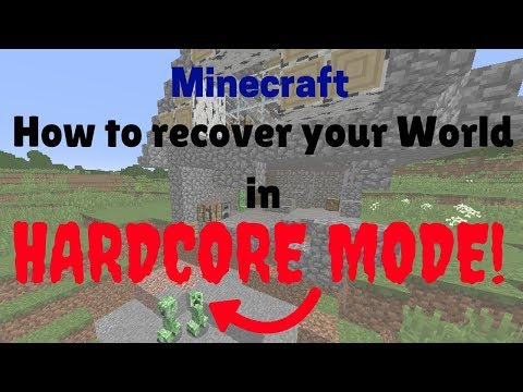 How to Recover your world in Hardcore mode | No mods, folders commands | Working 2019 {EASY}