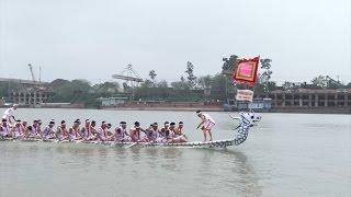 Phú Thọ tưng bừng lễ hội bơi chải truyền thống trên sông Lô