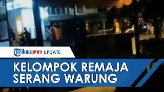 Video Dua Kelompok Diduga Geng Motor Saling Serang di Padang, Merusak Warung Milik Warga