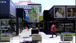 preview picture of video 'Christchurch New Zealand: Shipping Container Shopping Mall'