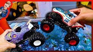 Monster Trucks Go Swimming